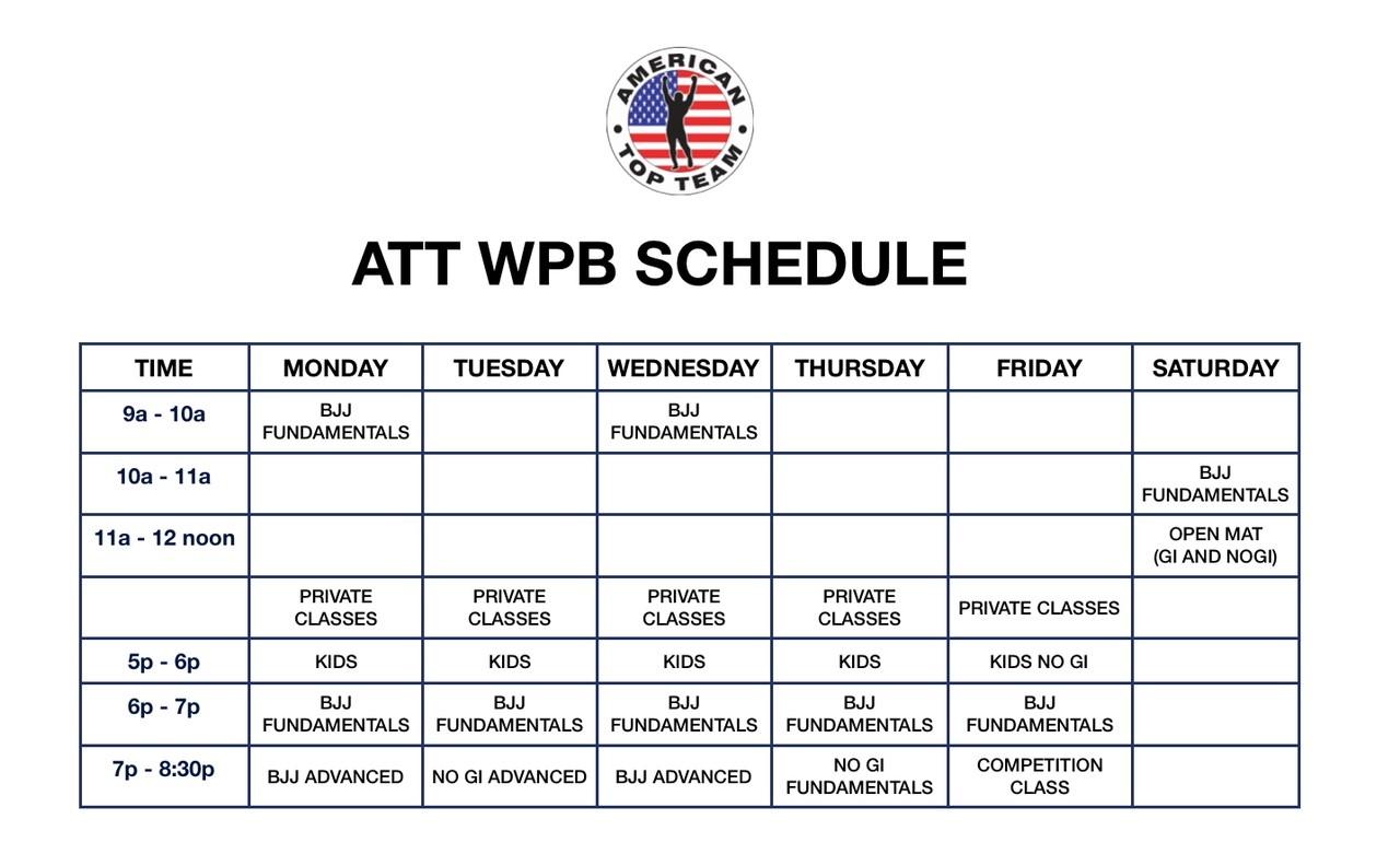 ATT schedule